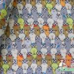ผ้าสาลู ลายกระต่ายโทนน้ำเงินเป็นผ้าเนื้อคล้ายๆ ผ้าอ้อมเด็กทารก เนื้อบาง โปร่ง ตัดเสื้อ ได้ ลายน่ารักค่ะ