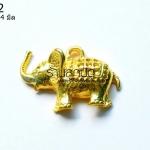 จี้รูปช้างสีทอง 24X34 มิล (1ชิ้น)