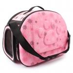 กระเป๋าน้องหมาน่ารักๆลายเท้าหมาชมพูไซด์ M