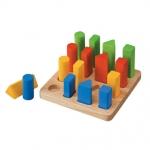 ของเล่นไม้ ของเล่นเด็ก ของเล่นเสริมพัฒนาการ Geometric Peg Board กระดานแท่งเรขา (ส่งฟรี)