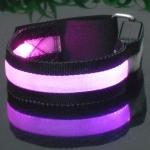 สายรัดแขนแถบไฟ LED กระพริบแสง สีชมพู