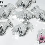 ตัวแต่งโรเดียม ปลาเงิน 20x15 มิล (1ชิ้น)