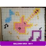 กรอบใส่กำแพงลูกโป่ง ไซส์เล็ก/ชิ้น Wall balloon Grid -small - 30 X 30 cm/ Item No.B411