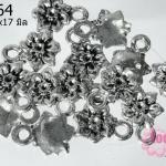 จี้โรเดียม ดอกกุหลาบ 10x17 มิล