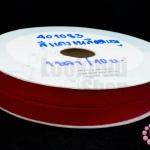 ริบบิ้นก้างปลา สีแดงเหลือดหมู 10มิล(1หลา/90ซม.)