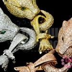ตะขอสร้อยหน้าเสือ สีทอง,ทองแดง,สีเงิน ตาสีเขียว เพชรCZ เกรด จิวเวอรรี่ 17X21มิล ห่วง 14มิล (3ชุด)