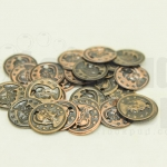 เหรียญจีน สีทองแดง บาง 10มิล(20ชิ้น)