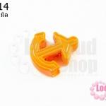 จี้โรเดียม สมอเรือ สีส้ม 28 มิล