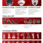 กล้องวงจรปิด CCTV กล้องวงจรปิดแบบโดม (Dome Camera) เลนส์กล้องวงจรปิดและขาตั้งกล้อง
