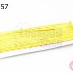 เชือกไหม สีเหลือง 1หลา(90ซม)