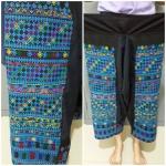 กางเกงปักโทนสีน้ำเงิน สำหรับผู้หญิง