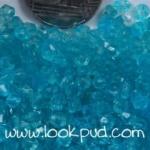 ลูกปัดคริสตัลอะคริลิค Bi-cone สีฟ้าเข้ม 4 มิล