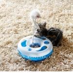 ของเล่นแมว : วงล้อพาเพลิน รุ่นหนูขนเฟอร์สีขาว