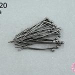 ตะปูหัวหมุด สีรมดำ 20มิล (10กรัม)