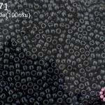 ลูกปัด MATSUNO สีเทาตะกั่วเหลือบมุก 2มิล(100กรัม)