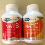 Mega We Care Nat B : Vitamin B 100 capsules + Mega We Care Nat C : Vitamin C 150 tablets