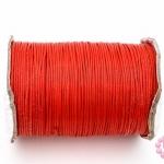เชือกค๊อตต้อนเคลือบ สีแดง 1.0มิล(1ม้วน)(100หลา)