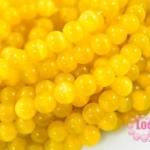 หินไพฑูรย์,หินตาแมว เหลืองสด 8มิล 35ซม 43เม็ด (จีน)