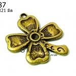 จี้ทองเหลืองรูปต้นดอกไม้ ขนาด 23 มิล ยาว 21 มิลราคา 10 บาท