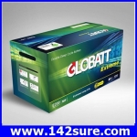 SBD033: GLOBATT EXTREME แบตเตอรี่สำหรับเก็บพลังงานแสงอาทิตย์ ชนิด Deep Cycle Extreme จ่ายกระแสไฟ (CCA)ได้สูงกว่าแบตเตอรี่ทั่วไป GLOBATT EXTREME E123 120AH