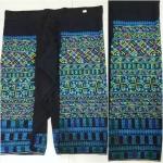 กางเกงผ้าปัก สำหรับผู้หญิง โทนสีน้ำเงิน