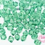 คริสตัลสวารอฟสกี้ (SWAROVSKI)สีเขียวอ่อนหม่น(360) 4มิล(100เม็ด)