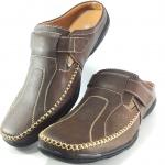 รองเท้าหนังเปิดส้น BINSIN บินซิน รหัส H5117 สีน้ำตาล เบอร์ 41-45