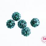 บอลเพชร เกรดดี 8 มิล สีเขียวเข้ม