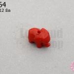 อะคลีลิค รูปช้าง สีแดง 9x12มิล (1ชิ้น)