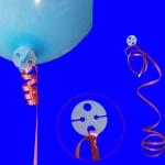 คลิปพลาสติกกลม มัดลูกโป่ง แพ็ค 20 ชิ้น - Plastic Balloon Clip disc 20 pieces