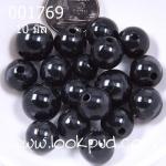 ลูกปัดมุก พลาสติก สีดำ 10 มิล 1 ขีด