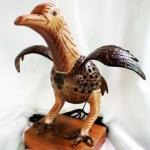 โคมไฟกะลามะพร้าวรูปเหยี่ยว Coconut Shell Lamp Eagle