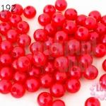 ลูกปัดมุก พลาสติก สีแดง 6มิล (1ขีด/100กรัม)