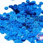 เลื่อมกลม สีฟ้าเข้มดิสโก้ 7มิล