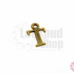 จี้ทองเหลือง ตัวอักษร T 9X14 มิล(1ชิ้น)