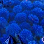 ปอมปอมไหมพรม สีน้ำเงิน 1ซม (100ชิ้น)