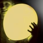 ลูกโป่ง LED สีเหลืือง แพ็ค 5 ชิ้น ไฟสว่างเหมือนโคมไฟ (LED Yellow Balloon - LED Fixed Mode)