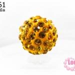 บอลเพชร เกรดดี 10 มิล สีเหลือง (1ชิ้น)