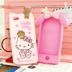 Case iPhone 5 My Kitty& My Melody เคสซิลิโคนพร้อมสายคล้องคอ 160/230