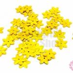 เลื่อมปัก ดอกไม้ สีทองดิสโก้ 12มิล(5กรัม)