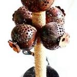 โคมไฟกะลามะพร้าวต้นดอกฝิ่น Coconut Shell Lamp Opium Tree