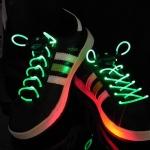 เชือกผูกรองเท้าไฟสีเขียว Shoelace - LED Green color