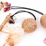 ไม้ล่อแมว ปลายคริสตัล คละสี (1อัน)