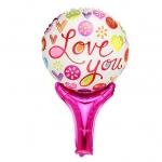 บอลลูนเป่าลม พิมพ์ลาย LOVE YOU / Item No. TL-M010