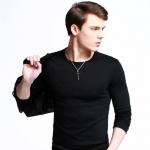 เสื้อยืดคอกลมสีดำ