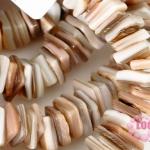 เปลือกหอย น้ำตาลอ่อน 8 มิล(161เม็ด)