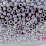 ลูกปัด Miyuki 15/0 สีม่วงอ่อนเหลือบรุ้งด้าน รหัส 410FR