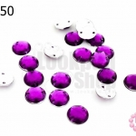 เพชรแต่ง กลม สีม่วง มีรู 8มิล(20ชิ้น)