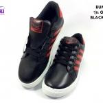 รองเท้าผ้าใบ BUMEI สีดำ/แดง รุ่นG046 เบอร์36-41