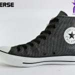 รองเท้าผ้าใบ CONVERSE ALL STAR GLITTER HI BLACK เบอร์ 7,8,9